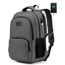 Laptop Backpack, VASCHY Water Resistant Travel Backpack for Men Women USB Port