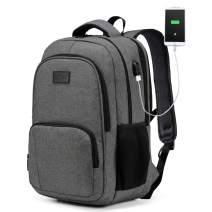 Laptop Backpack, VASCHY Water Resistant Travel Backpack for Men Women USB Port