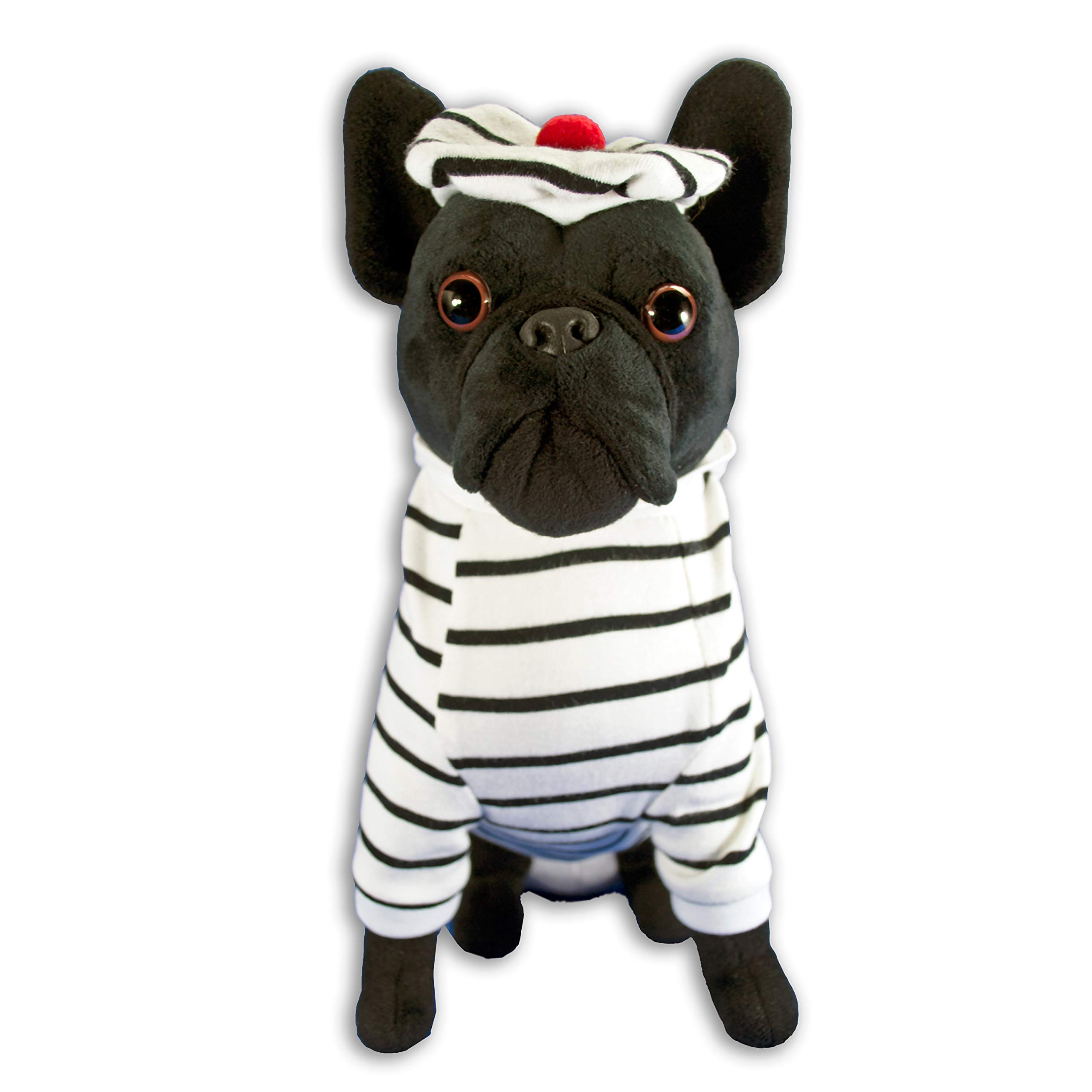 FGA MARKETPLACE French Bulldog Stuffed Animal, Realistic Looking Supersoft Plush Toy , Amazing Collection, A Huggable Keepsake for All Ages French Navy
