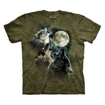 The Mountain Men's Three Wolf Moon Short Sleeve Tee