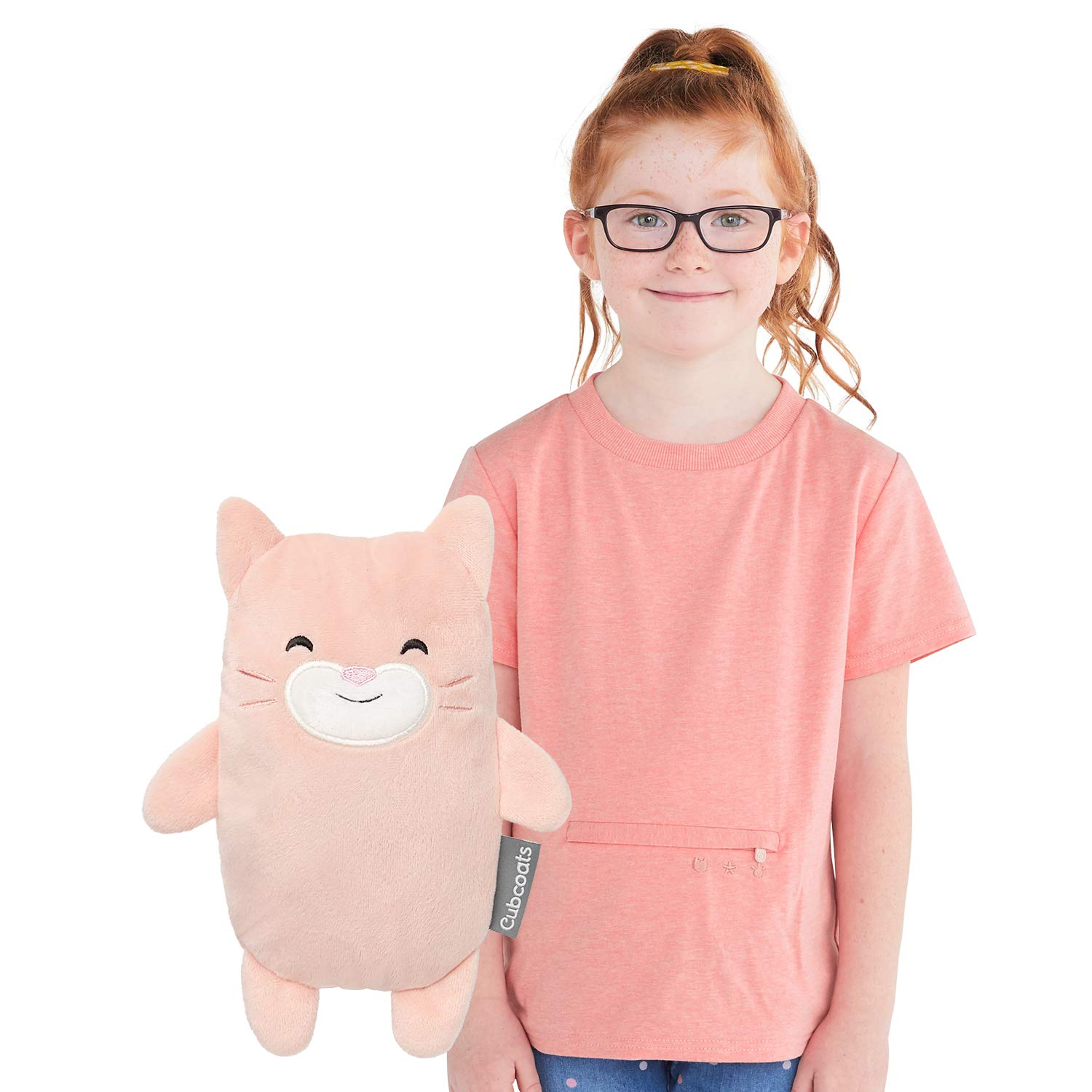 Cubcoats Kali The Kitty 2-in-1 Transforming Tee T-Shirt and Soft Plushie