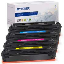 MYTONER Compatible Toner Cartridge Replacement for HP 202A CF500A CF501A CF502A CF503A (Black Cyan Magenta Yellow, 4-Pack)