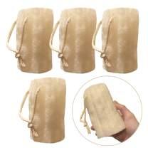 "4 Pack Large 5"" L Farm Organic Egyptian Natural Loofah Sponge Skin Cleansing Skin Exfoliation Bathing and Back Caring Spa Body Shower Puff Scrubber Lofa Loofa Luffa Loffa Skin Care DIY Soap Making"