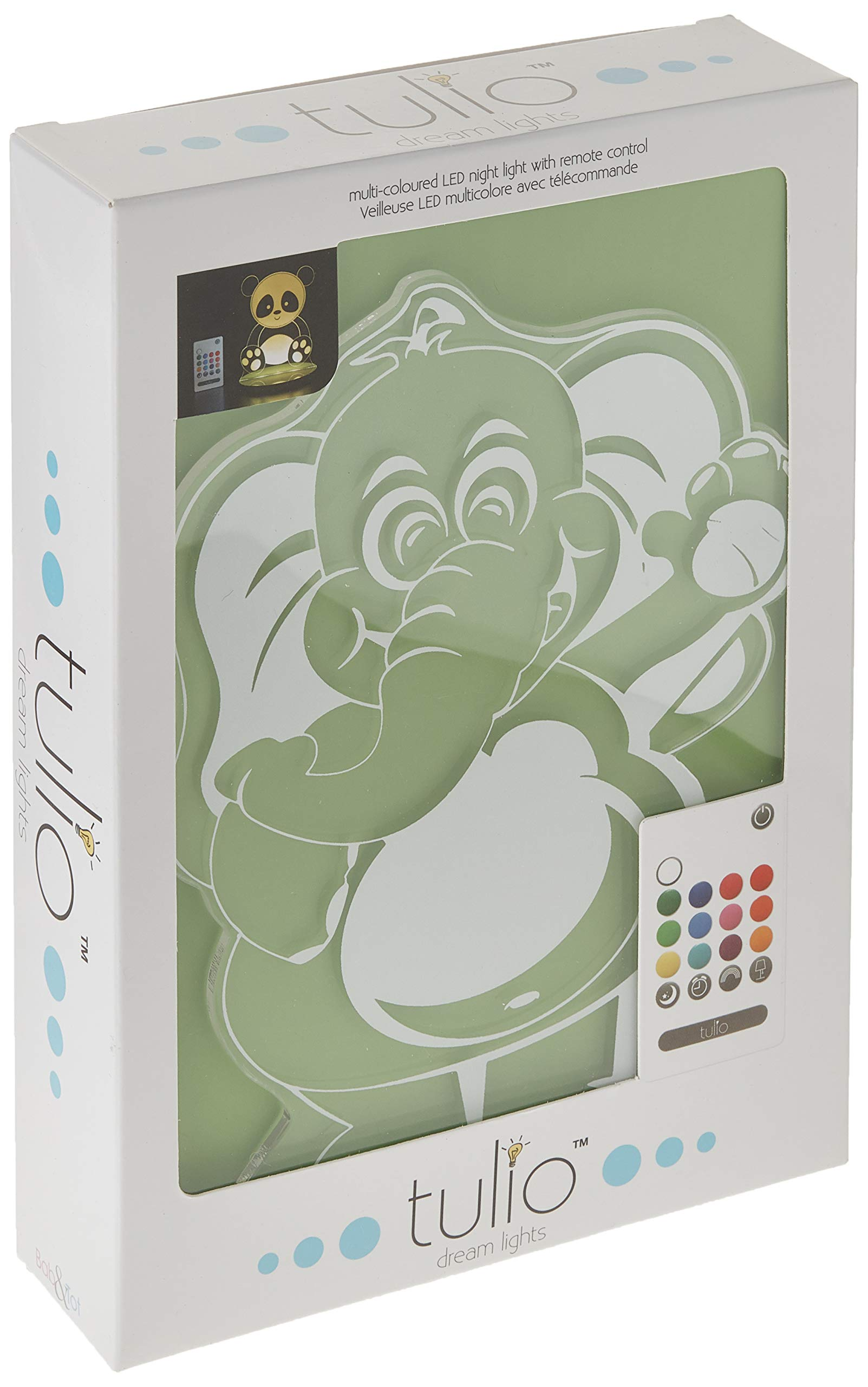 Tulio Dream Lights High-Five Elephant Multi-Use, Multi-Color Night Light