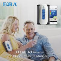 FORA Test N'GO Wireless Bluetooth Upper Arm Blood Pressure Monitor, App Compatibility with iOS and Android, Adjustable Cuff, LCD Backlight Display, 200 Reading Memory, Portable for Health Monitoring