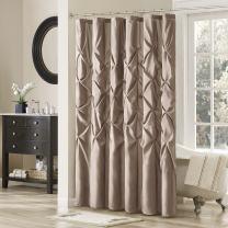 Madison Park Laurel Shower Curtain 54x78 Mushroom, 54 x 78