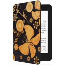 CoBak Kindle Paperwhite Case - All New PU Leather Smart Cover with Auto Sleep Wake Feature for Kindle Paperwhite 10th Generation 2018 Released, Butterfly
