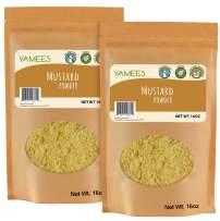 Mustard Powder - 2 Bags - 14 Oz Each – Ground Mustard – Mustard Seed Powder - Dry Yellow Mustard - Bulk Spices