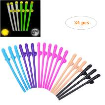 DmHirmg Bachelorettee Party Straws Hen Party Straws Reusable BrideStraws, Fun Design Drinking Straws, Party Supplies by ACXOP(24PCS)