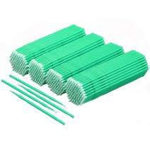 Akstore 400 PCS Disposable Micro Applicators Brush Eyelash Extension Individual Applicators Mascara Brush for Make up and Clean and Compatible and Personal Care (Green)