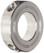 Climax Metal M2C-08-S Two-Piece Clamping Collar, Metric, Stainless Steel, 8mm Bore, 24mm OD, 9mm Width,