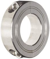 Climax Metal M2C-30-S Two-Piece Clamping Collar, Metric, Stainless Steel, 30mm Bore, 54mm OD, 15mm Width,