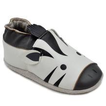 Kimi + Kai Baby Unisex Lambskin Leather Soft Sole Shoes - Zebra