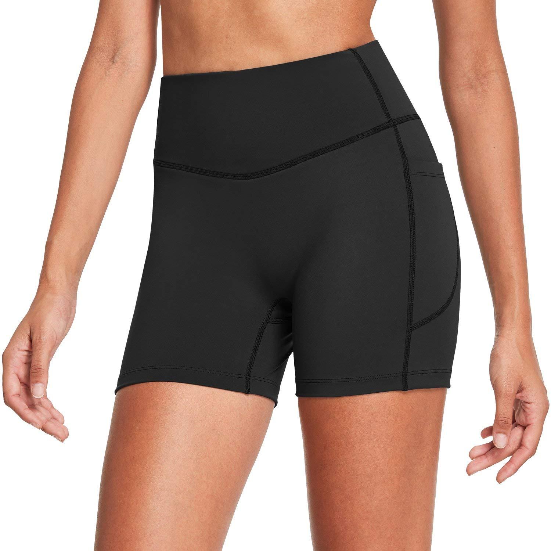 "BALEAF Women's 7"" High Waist Buttery Soft Biker Shorts Tummy Control Yoga Workout Shorts with Pockets"