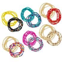 Waist Bead Set, Colorful Waist Chains, African Beaded Belly Chain, Body Chain, Bikini Chain for Women Girls