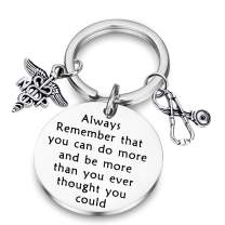 BAUNA NP Nurse Practitioner Gift NP Keychain Always Remember That You Can Do More NP Graduation Gift Nurse Jewelry