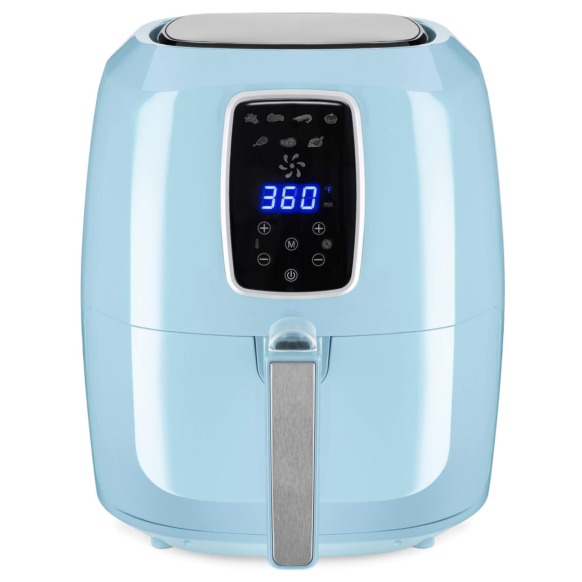 Best Choice Products 5.5qt 7-in-1 Digital Family Sized Air Fryer Kitchen Appliance w/LCD Screen and Non-Stick Fryer Basket, Baby Blue