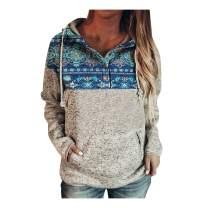 Beppter Hoodie for Women, Long Sleeve Yellowstone Print Hooded Sweatshirt