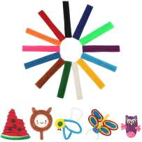 500 Piece Pack Wax Craft Stix Made from Non-Toxic Material-Bendable, Sticky Sticks of 13 Kinds of Bright Colors in Bulk. Perfect Travel Toys, Gifts for Children DIY, Used for School Project Handicraft