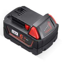 6.0Ah M18 XC Battery Compatible with Milwaukee 18V Battery for M18B 48-11-1820 48-11-1850 48-11-1828 48-11-10