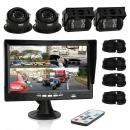 Pyle Car Rear View Camera and Video Monitor, IP68 Waterproof, Commerical Grade, 4 Cameras, Night Vision, 7-Inch LCD Display for Trailer, RV, Trucks, Pickup Trucks, Cargo Vans, etc. (PLCMTRS77),BLACK