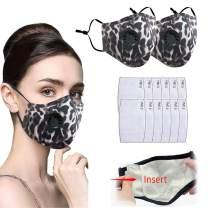 2 Pack Fashion Protective, Unisex Apricot Leopard, Washable, Reusable Cotton Fabric