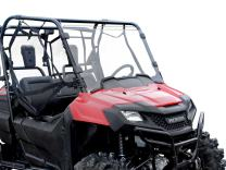 SuperATV Scratch Resistant Clear Full Windshield for Honda Pioneer 700/700-4 (2014+)