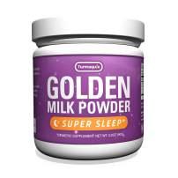 Super Sleep Golden Milk Powder (90 Servings) Turmeric + Melatonin, Valerian, Chamomile, Lemon Balm & 5 Superfood Boosters