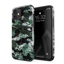 BURGA Phone Case Compatible with iPhone 11 - Jade Green Military Forest Marble Camo Camouflage Cute Case for Girls Heavy Duty Shockproof Dual Layer Hard Shell + Silicone Protective Cover
