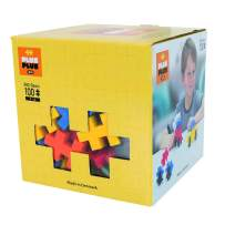 PLUS PLUS Big - Open Play Set - 100 Piece - Basic Color Mix, Construction Building Stem Toy, Interlocking Large Puzzle Blocks for Toddlers and Preschool
