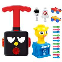 LiKee Balloon Launcher & Powered Car Toy Set Aerodynamic Cars Racers Party Supplies Preschool Educational Science Stem Toys with Manual Balloon Pump for Kids Boys Girls 3+ and Classroom (Black Bird)