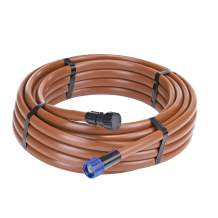 Raindrip 5/8 in. Supply Tubing, Preassembled with Hose Thread Swivel Adapter and End Plug, Brown Polyethylene