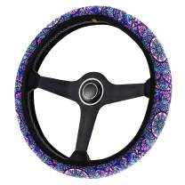Horeset Bohemian Lotus Steering Wheel Covers Cool Universal Car Steering Wheel Cover for Jeep Truck Sedan, Car Interior Accessories for Women