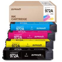 ZIPRINT Remanufactured Ink Cartridge Replacement for HP 972A 972X 972 for HP PageWide Pro 577dw 477dw 452dn 452dw 477dn 552dw 577z Printer (1 Black, 1 Cyan, 1 Magenta, 1 Yellow, 4-Pack)