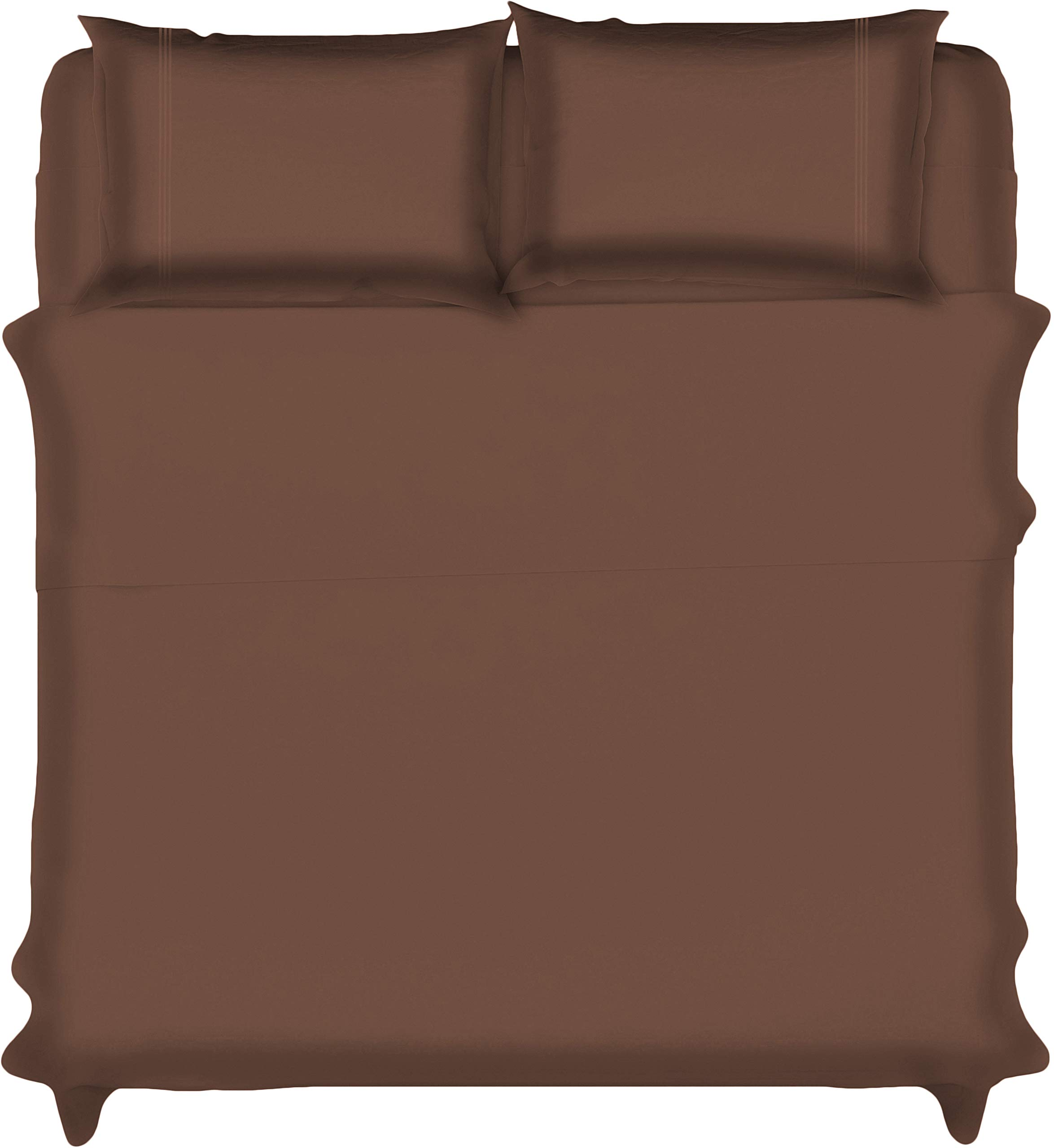 Lux Decor Collection Bed Sheet Set - Brushed Microfiber 1800 Bedding - Wrinkle, Stain and Fade Resistant - Hypoallergenic - 4 Piece (King,Embroidery Chocolate)