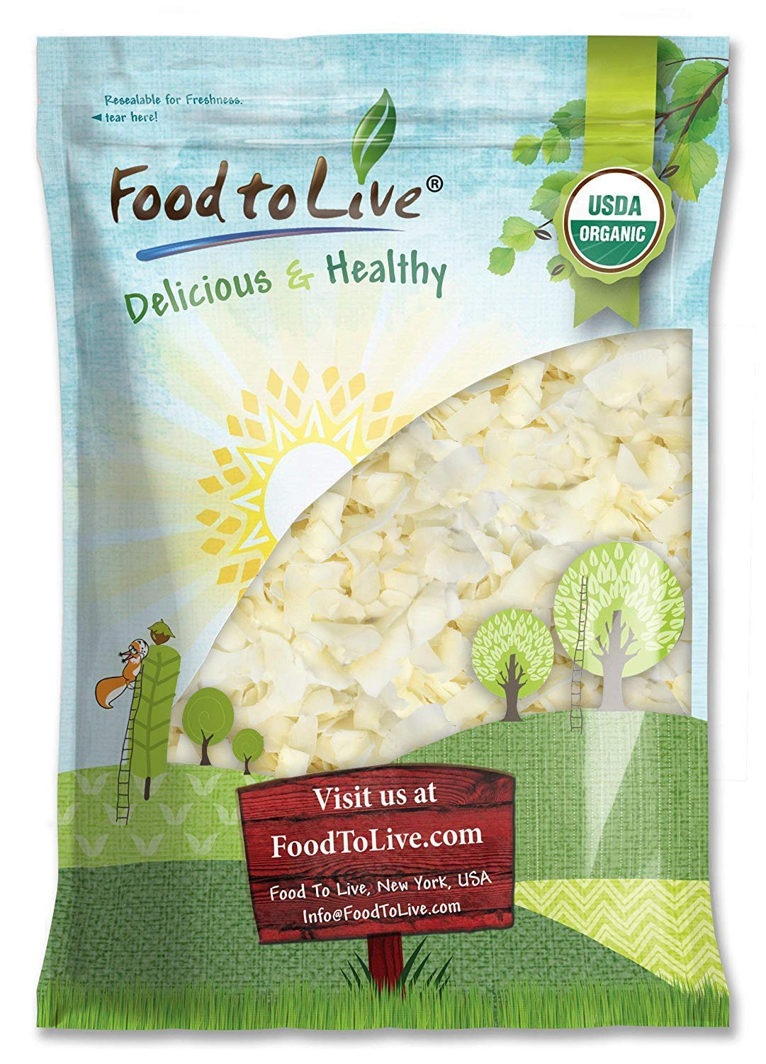 Organic Coconut Chips, 8 Pounds - Non-GMO, Kosher, Raw, Desiccated, Unsweetened, Unsulfured, Dried Flakes, Vegan, Keto, Bulk, Great for Baking