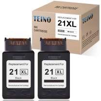 TEINO Remanufactured Ink Cartridge Replacement for HP 21XL 21 C9351A use with HP PSC 1410 DeskJet F380 F2210 D1420 D1530 D1520 F335 3915 D1455 D2460 D1341 D1311 F2240 D1430 D1320 (Black, 2-Pack)