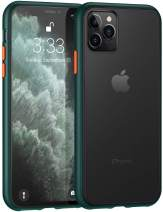 SHIWELY Matte iPhone 11 Pro Case, Translucent Shockproof and Anti-Drop Protection Case with Soft Edges for iPhone 11 Pro (Green)
