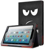 Poetic All-New Fire HD 10 Tablet Case (7th Gen 2017 and 9th Gen 2019 Release), Slim Synthetic Leather Flip Stand Cover, Auto Sleep/Wake, Magnetic Closure, for Amazon Fire HD 10.1 Inch, Don't Touch