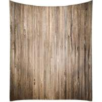 QCWN Wood Grain Tablecloth,Brown Old Hardwood Floor Plank Grunge Lodge Garage Loft Natural Tablecloth,Dining Room Kitchen Rectangular Table Cover.Lightbrown 55x78Inch