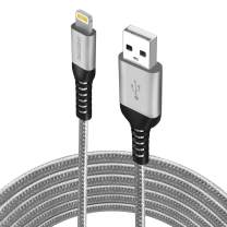 iPhone Charger 10ft (2-Pack), Apple MFi Certified Lightning Cable, Braided Nylon High-Speed iPhone Cable for iPhone 11/11 Pro/11 Pro Max/X/XS/XR/XS Max/8/7/6/5S/SE, AirPods/Pro, iPad Mini/Air - Grey