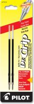 PILOT Dr. Grip Ballpoint Ink Refills for Retractable Pens, Fine Point, Red Ink, 2-Pack (77212)