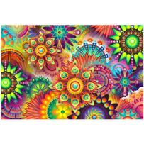 5D Diamond Painting Full Drill Kaleidoscope Mandala Paint by Number Kits Embroidery Paintings Pictures Arts Craft for Home Wall Decor 10.2 x 14.2 inch