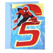 Hallmark 5th Birthday Card (Spider-Man Door Hanger)