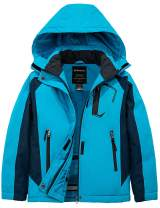Wantdo Girl's Waterproof Winter Snow Coat Hooded Windproof Ski Fleece Jacket