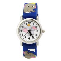 Jewtme Kids Time Teacher Watches 3D Cute Cartoon Silicone Children Toddler Wrist Watches Gift for 3-7 Year Old Boys Girls Little Child (Elephant-Blue)
