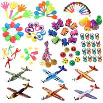 iBaseToy Party Prizes, 100PCS Party Bag Fillers Toys for Kids, Party Favors Toy Assortment with Flying Glider and more for Carnival Prizes , Pinata , Birthday, School Classroom Rewards