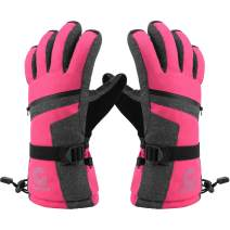 Gonex Ski Gloves for Men Women Teen Boys Girsl Youth, -30℉ Waterproof Touchscreen Thinsulate Snowmobile Winter Snow Gloves