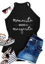 IRISGOD Womens High Neck Tank Tops Summer Graphic Mamacita Sleeveless Drinking Shirts Tees