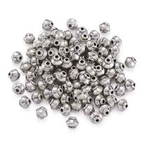Pandahall 100pcs Tibetan Silver Antique Silver Bicone Beads Spacers Charms for Jewelry Makings Lead Free Cadmium Free Nickel Free 5x4.5mm Hole: 1mm
